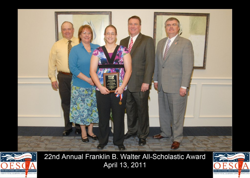 2011 Franklin B Walters Award Lisa Rhonemus