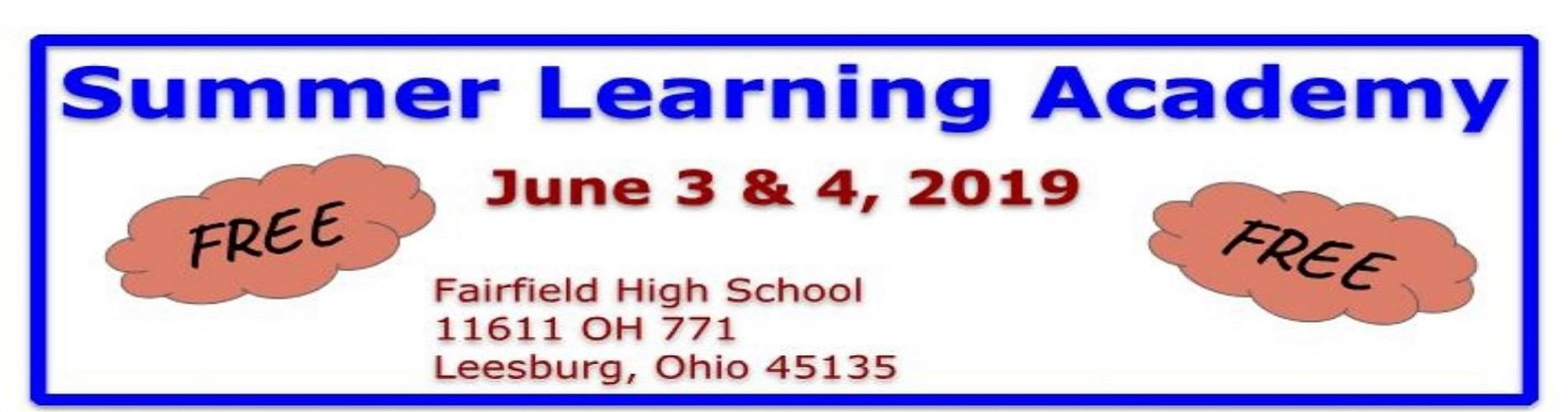 Summer Learning Academy 2019
