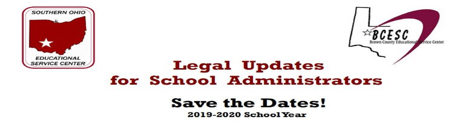 Legal Updates Save the Dates Flyer